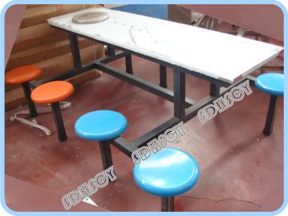 【客户案例】山东邹平【快餐桌椅】发货【低碳学生餐桌厂家】